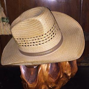 Vintage New Elegante Straw Cowboy Hat